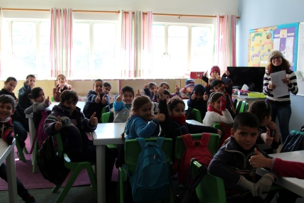 Inside a classroom at an H4L non-formal education center for refugee children in Beruit © Carmen Andres